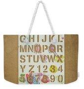 Stencil Alphabet Fun Weekender Tote Bag