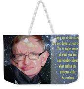Stephen Hawking Poster Weekender Tote Bag
