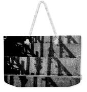 Stepping On Shadows Weekender Tote Bag
