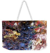Stepping Stones At Autumn Forest Weekender Tote Bag
