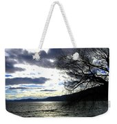 Sterling Silver Sunset Weekender Tote Bag