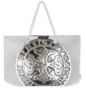 Sterling Silver Viking Celtic Cross Weekender Tote Bag