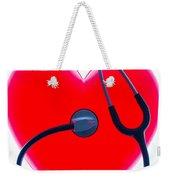 Stethoscope And Plastic Heart Weekender Tote Bag