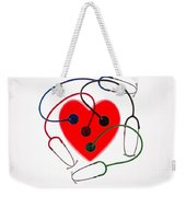 Stethoscopes And Plastic Heart Weekender Tote Bag
