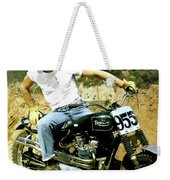 Steve Mcqueen, Triumph Motorcycle, On Any Sunday Weekender Tote Bag