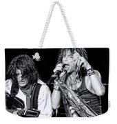 Steven Tyler Croons Weekender Tote Bag by Traci Cottingham