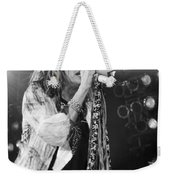 Steven Tyler In Concert Weekender Tote Bag by Traci Cottingham