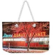 Steves Market Snowstorm Salem Ma Weekender Tote Bag
