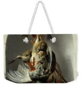 Stil Life With Birds And Hunting Gear In A Niche  Weekender Tote Bag