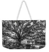 Still Faithful B W God Bethany Presbyterian Church The Old Oak Tree Greene County Georgia Art Weekender Tote Bag