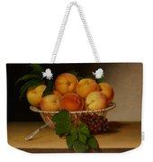 Still Life - Basket Of Peaches Weekender Tote Bag