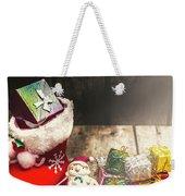 Still Life Christmas Scene Weekender Tote Bag