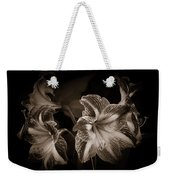 Still. Life. Colorless. Flowers. Weekender Tote Bag