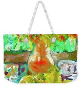 Still Life Flower Weekender Tote Bag
