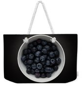 Still Life Of A Bowl Of Blueberries. Weekender Tote Bag