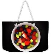 Still Life Of A Bowl Of Fresh Fruit Salad. Weekender Tote Bag
