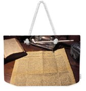 Still Life Of A Copy Of The Declaration Weekender Tote Bag