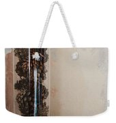 Still Life Of A Glass Jar Of Pine Cones Weekender Tote Bag