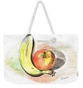 Still Life Of Apple And Banana  Weekender Tote Bag