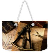Still Life Of Charts, Books Weekender Tote Bag