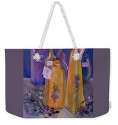 Still Life Olive Oil And Olive Twigs Weekender Tote Bag