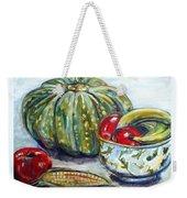 Still-life Pumpkin And Apples Weekender Tote Bag