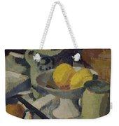 Still Life Weekender Tote Bag by Roger de La Fresnaye