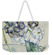 Still Life, Vase Of Carnations Weekender Tote Bag
