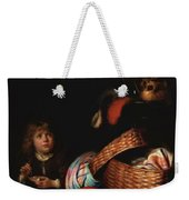 Still Life With A Boy Blowing Soap Bubbles 1636 Weekender Tote Bag