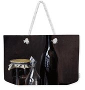 Still Life With A Jellyjar A Carafe And A Bottle Of Wine Weekender Tote Bag