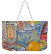 Still Life With A Mexican Blanket Weekender Tote Bag
