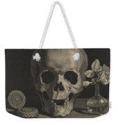 Still Life With A Skull And A Vase Of Roses Weekender Tote Bag