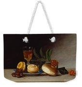 Still Life With A Wine Glass Weekender Tote Bag