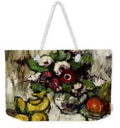 Still Life With Anemones And Fruit Weekender Tote Bag
