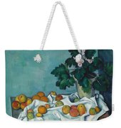 Still Life With Apples And A Pot Of Primroses Weekender Tote Bag