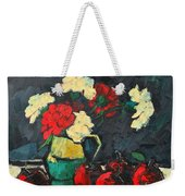 Still Life With Apples And Carnations Weekender Tote Bag by Ana Maria Edulescu