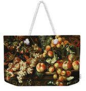 Still Life With Apples And Grapes Weekender Tote Bag