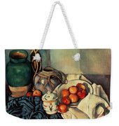 Still Life With Apples Weekender Tote Bag by Paul Cezanne