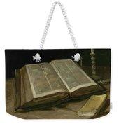 Still Life With Bible Nuenen, October 1885 Vincent Van Gogh 1853  1890 Weekender Tote Bag