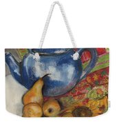 Still Life With Blue Teapot One Weekender Tote Bag