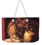 Still Life With Book And Purse Weekender Tote Bag