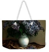 Still Life With Bouqet Of Fresh Lilac Weekender Tote Bag