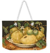 Still Life With Bowl Of Citrons Weekender Tote Bag