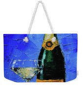 Still Life With Champagne Bottle And Glass Weekender Tote Bag