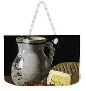 Still Life With Cherries  Cheese And Greengages Weekender Tote Bag