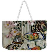 Still Life With Daisies And Fruit Weekender Tote Bag
