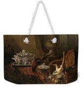 Still Life With Dead Game And A Silver Tureen On A Turkish Carpet Weekender Tote Bag
