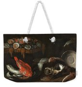 Still Life With Fish And Oysters  Weekender Tote Bag