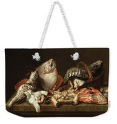 Still Life With Fishes, A Crab And Oysters Weekender Tote Bag