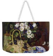 Still Life With Flowers And Fruit Weekender Tote Bag